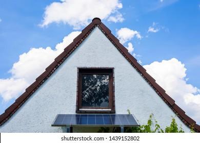 House gable with solar cells