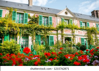 House and garden of Claud Monet, famous french impressionist painter in Giverny town in France