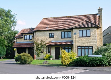 House and Garden on a Typical English Residential Estate