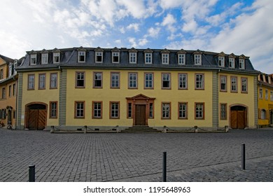 The house Goethe lived in at the beautiful old town of Weimar, Thuringia, Germany