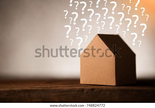 House Ideas Concept House Shape Papercut Stock Photo Edit