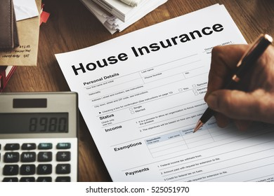 House Insurance Document Form Concept