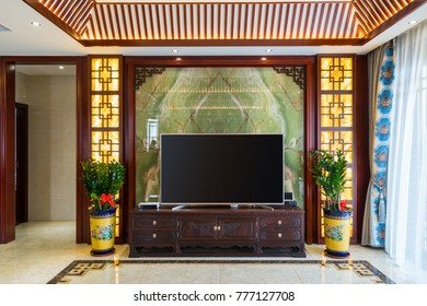 house interior with Chinese style decoration