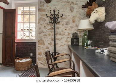 House interior equipped with decorative vintage furniture