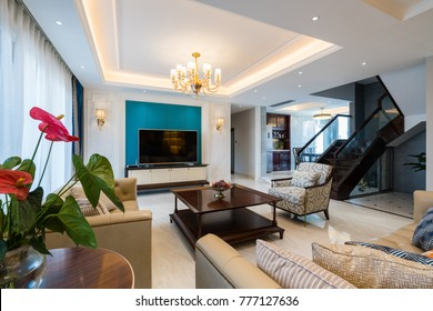 house interior with luxury decoration