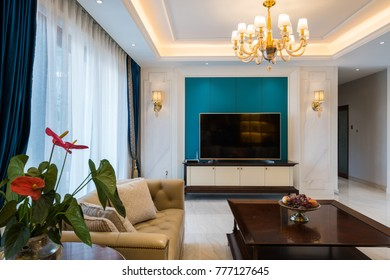 house interior with luxury decoration