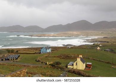 House in Ireland near the wild sea