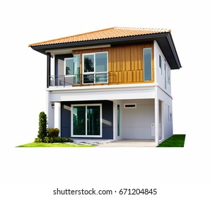 House isolate on white background.New house for Sale