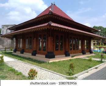"House of ""joglo"" the traditional house from central java, Indonesia"