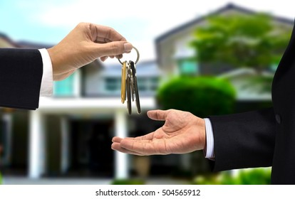 House key hand over to new the home owner