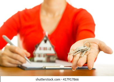 House key landlord for your real estate property concept.