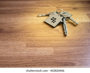 House Keys on wood table, Color filter