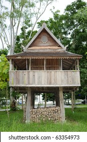 House  lanna  style ornamental architecture  storage rice Chiangmai Thailand