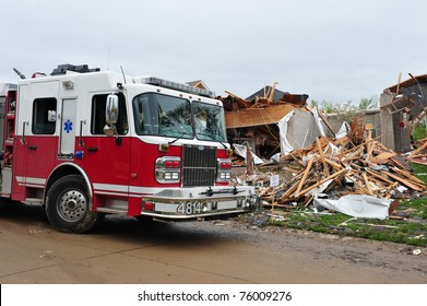 House leveled by a tornado