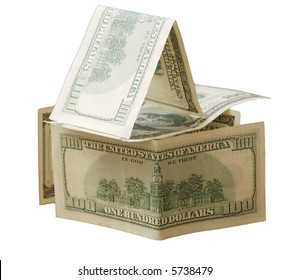 House made of hundred dollar notes