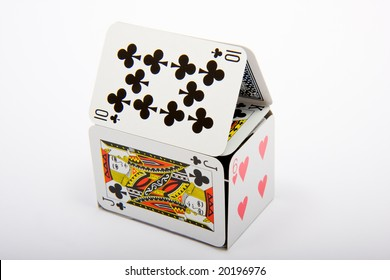 A house made of playing cards