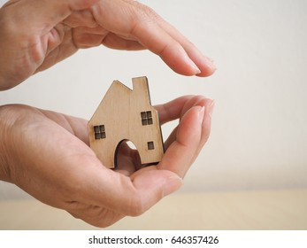 house model in saving plan for residence of people in society, purchasing home for living of dream of community lives.