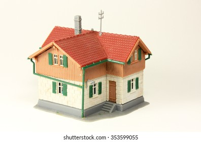 House, model house with a white background