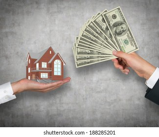 House and money, exchange.