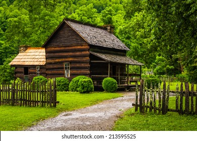 House at the Mountain Farm Museum in the Oconaluftee Valley, in Great Smoky Mountains National Park, North Carolina.