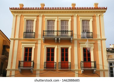 House in Nafplio. Nafplio is an old town in Peloponnese Greece with historic roots. Nafplio is famous for Palimidi Castle and Bourtzi Castle. Nafplio is also known as Nafplion, Nauplio and Nauplion.