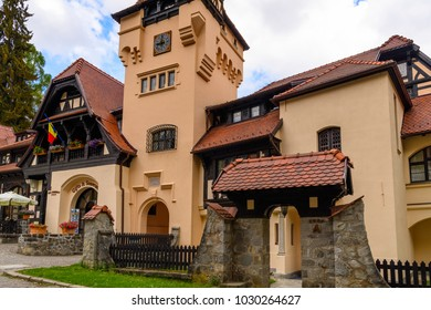 House near the Peles Castle in the forest