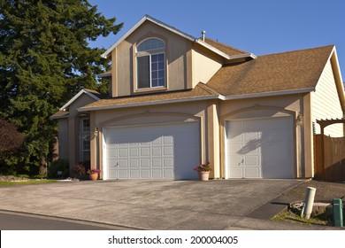 House in a neighborhood Gresham Oregon.