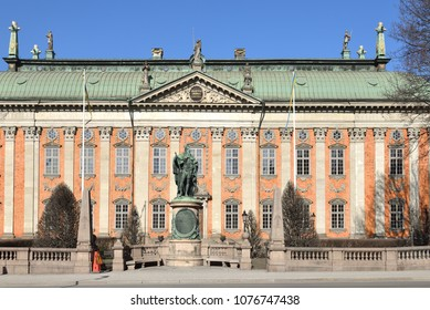 House of Nobility - Riddarhuset. Palace was built in 1641-1674 in Baroque style. Stockholm, Sweden