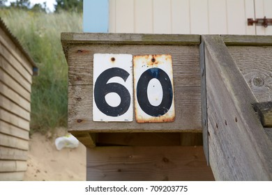 House number 60 sign