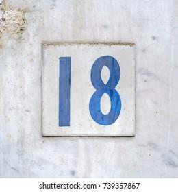 House number eighteen (18)