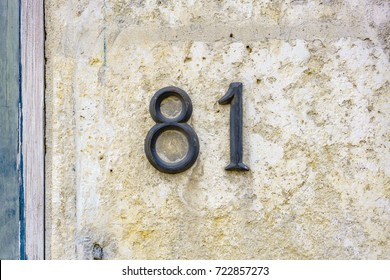 House number eighty one (81).