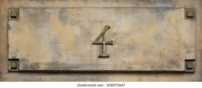 House number. The figure is four.