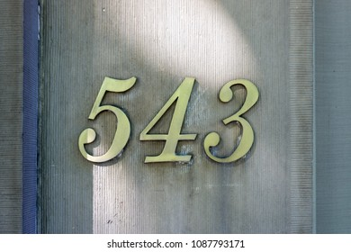 House number five hundred and forty three (543)