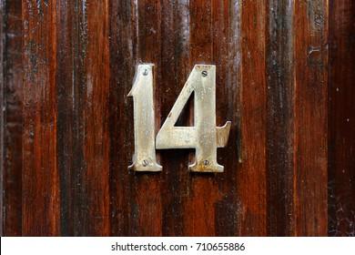 House number fourteen (14)