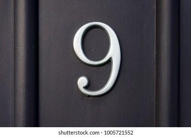House number  nine (9)