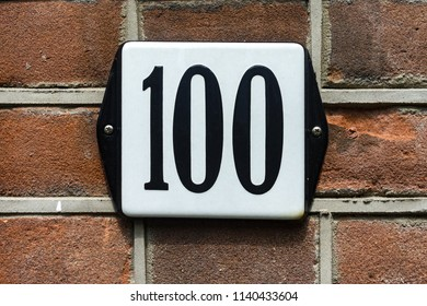 House number one hundred (100)