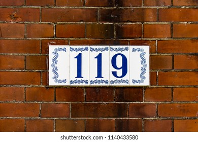 House number one hundred and nineteen (119)