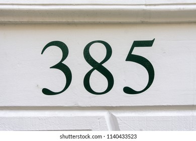 House number thee hundred and eighty five (385)
