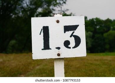 House number thirteen (13)