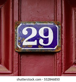 House number twenty nine (29)