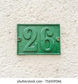 House number twenty six (26).