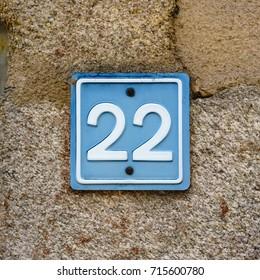 House number twenty two (22).