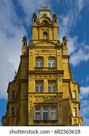 House in the old town of Praha in the Czech Republic in summer