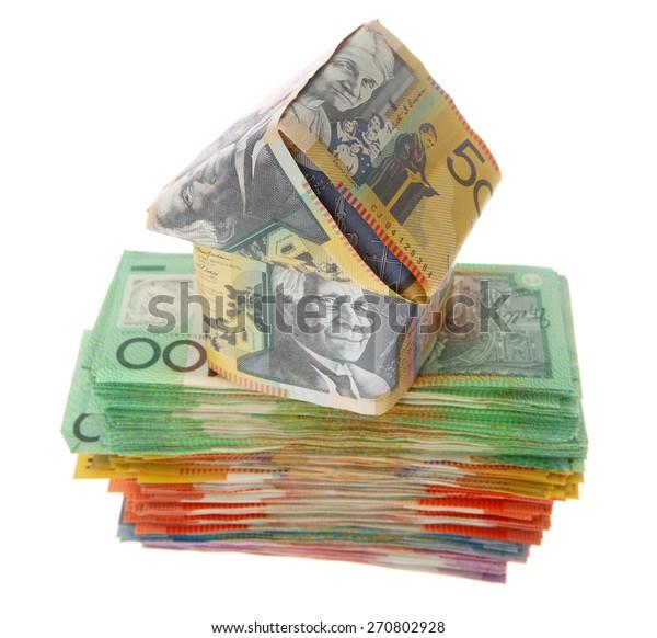 House on Australian Money - Aussie currency