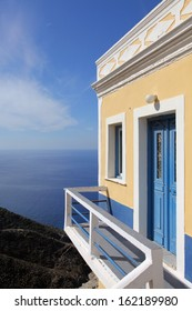house on the cliff in Olympos, Karpathos