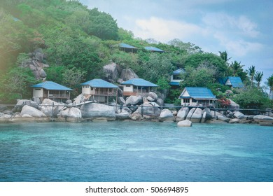 House on island ,Nangyuan island, Thailand