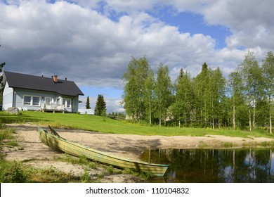 House on the little lake, Finland