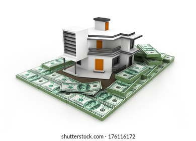 house on money stack