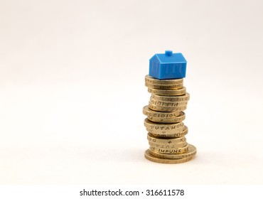 House on a pile of money