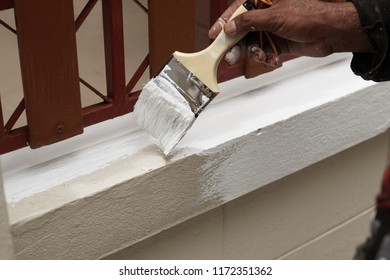 House painter painting wall